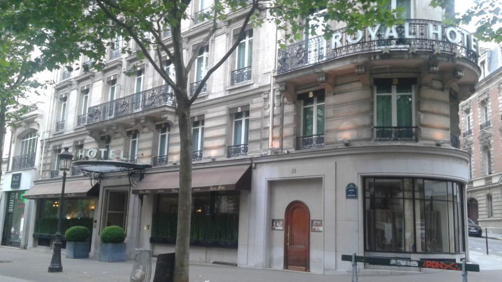 Hôtel Royal - 33, Avenue Friedland - 75008 Paris
